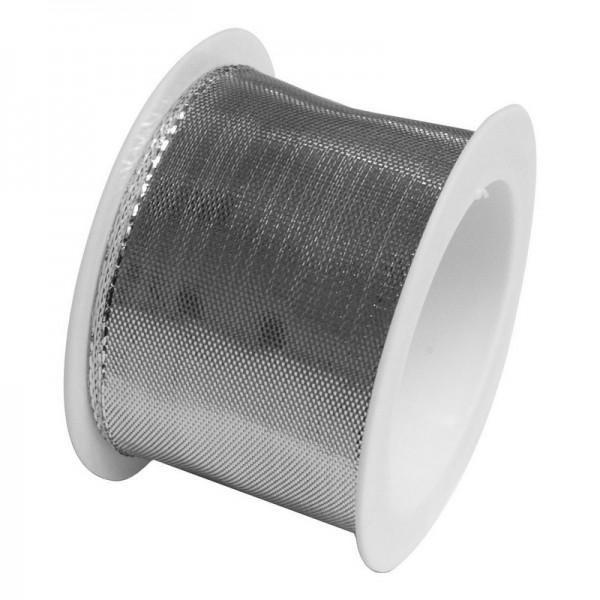 Taftband 40 mm: silber