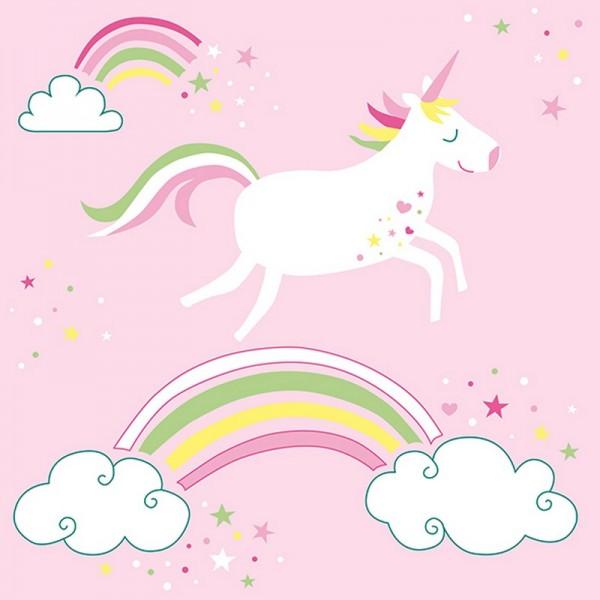 Serviette Atelier: Unicorn rosa