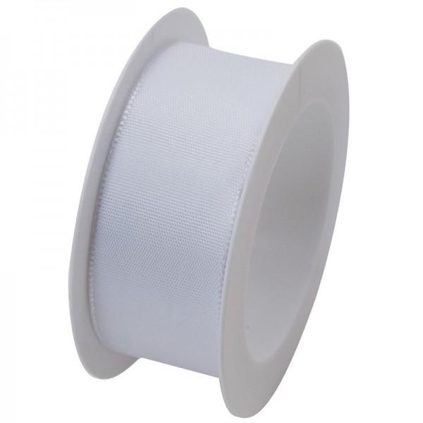 Taftband 25 mm: weiß