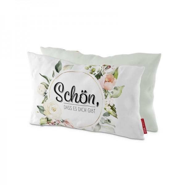 Kissen 25x40cm Schön, Blume