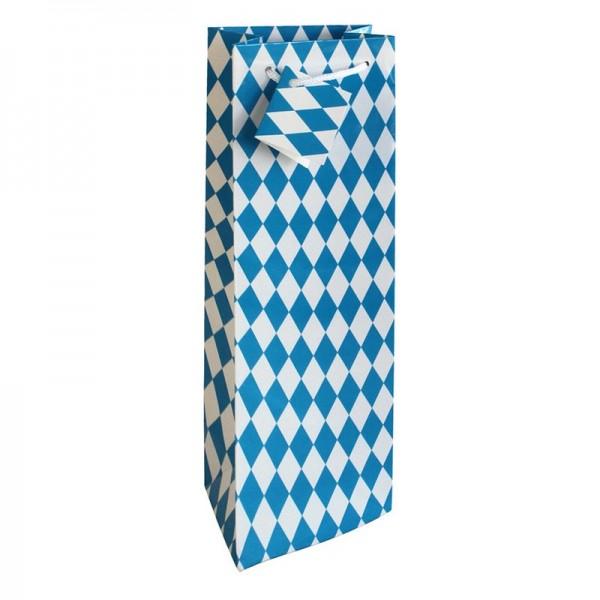 Flaschentaschen, 12 x 37 x 8 cm: Bayernraute