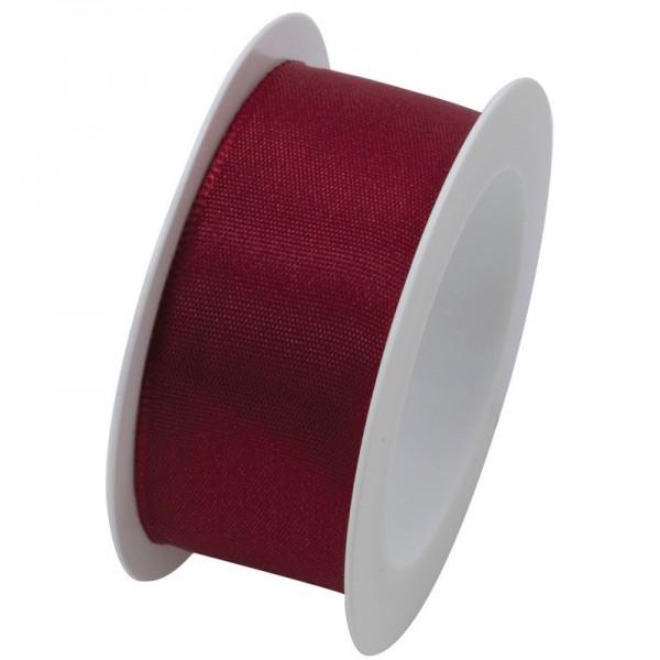 Taftband 25 mm: bordeaux
