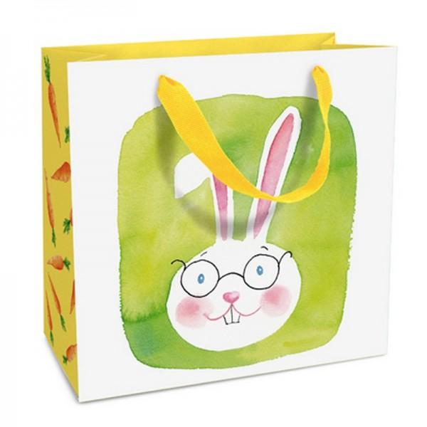 Geschenktaschen, 15 x 15 x 6 cm: Green Bunny