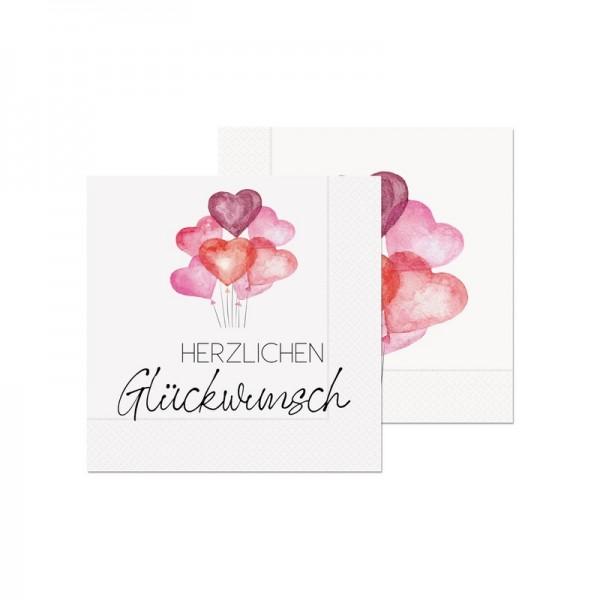 Serviette H.Glückw. 20St33x33