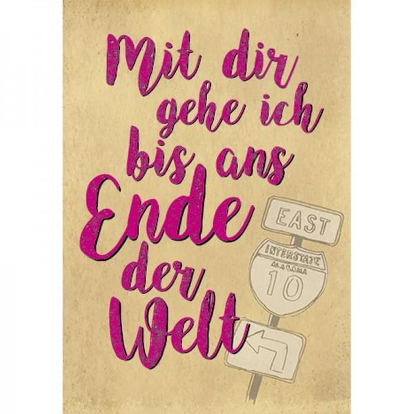 Postkarte Fun&Emotion ans Ende der Welt