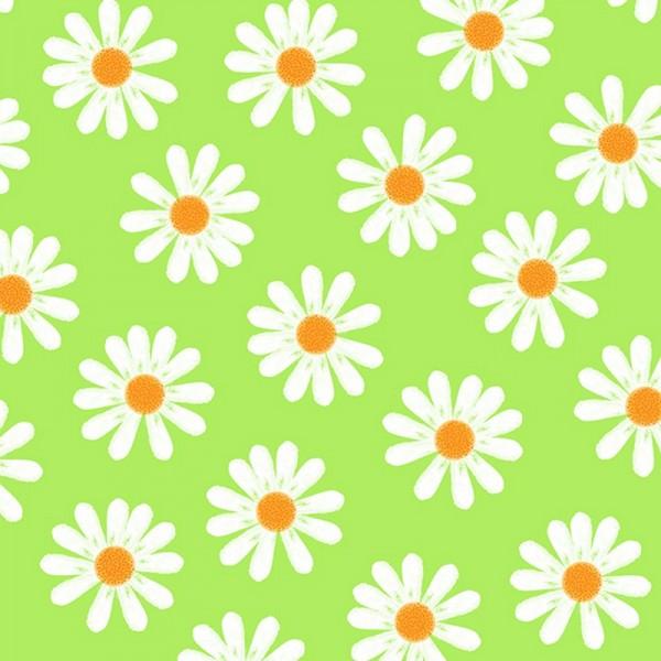Serviette Atelier: Dancing Daisies grün