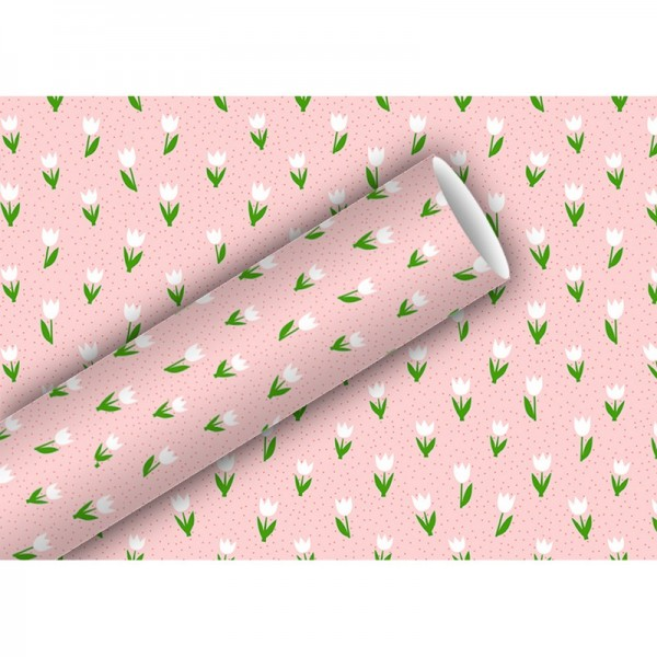 Geschenkpapier: Minitulips rosa