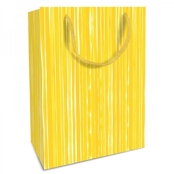Geschenktaschen, 25 x 37 x 8 cm: Brush Stripes gelb