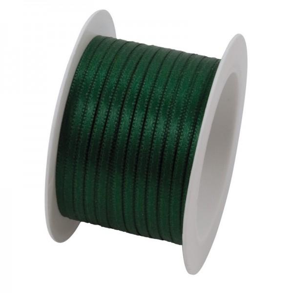 Satinband 3 mm: dunkelgrün