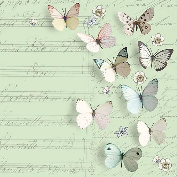 Serviette Atelier: Petits Papillons