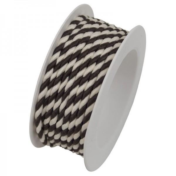 Kordelspule 3 mm: braun-weiss