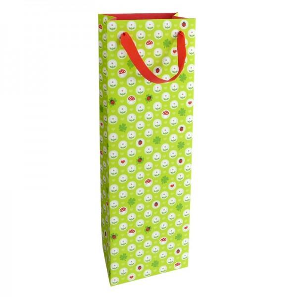 Flaschentaschen, 12 x 37 x 8 cm: Kleines Glück