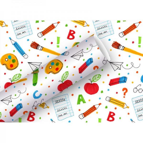 Geschenkpapier: Schule