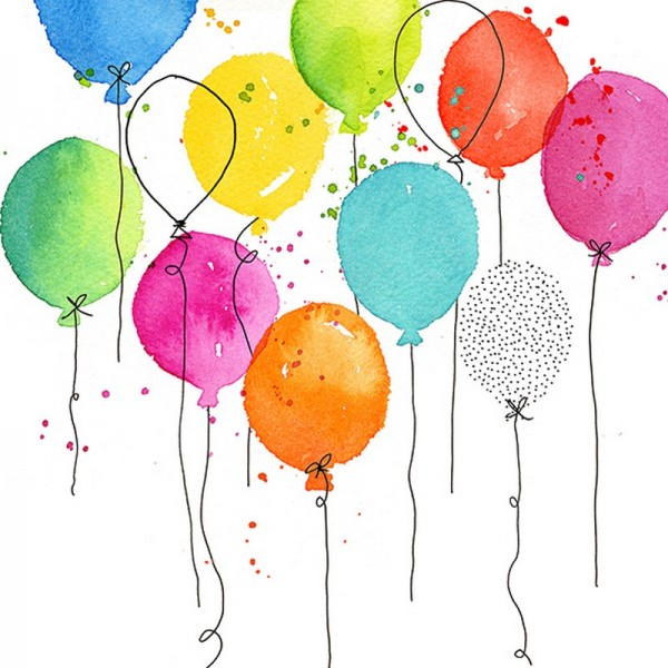 Serviette Atelier: Baloon Party