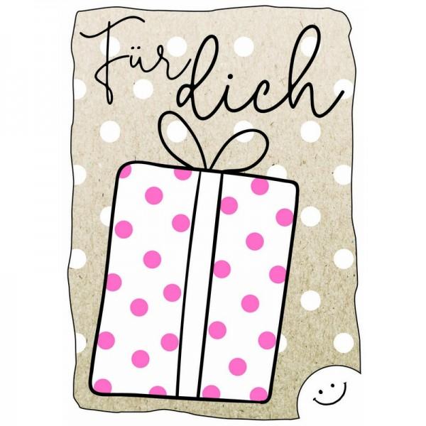 """Postkarte F&E """"Für dich"""" Geschenk"""