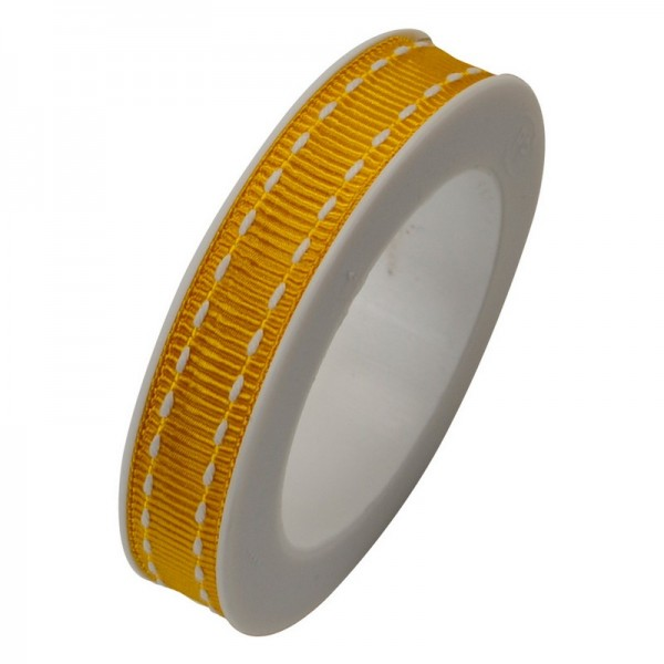 Ripsband 10 mm: Stich gelb