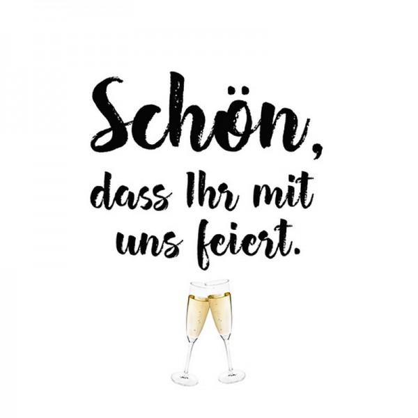 Serviette Atelier: Schön Feiern