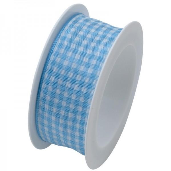 Taftband 25 mm: Vichy hellblau