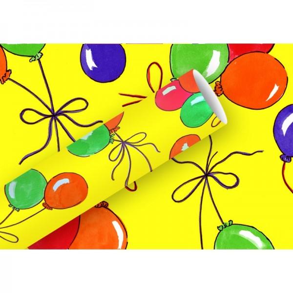 Geschenkpapier: Luftballons gelb