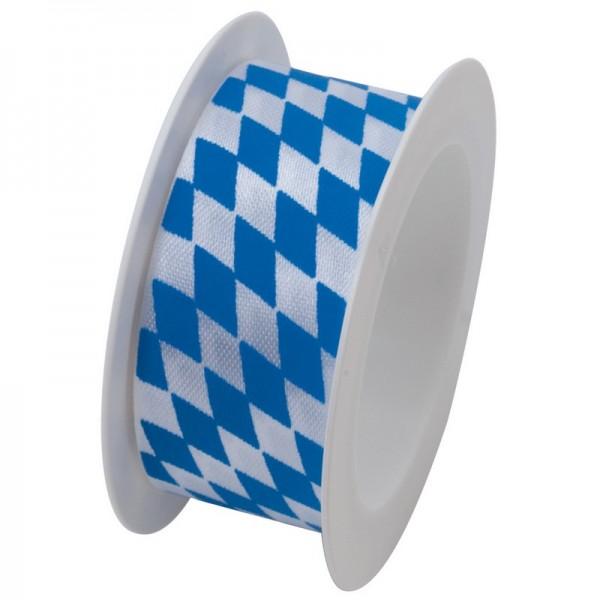 Taftband 25 mm: Bayern blau weiß