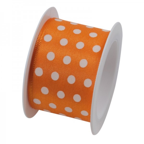 Taftband 40 mm: Hot Spots orange