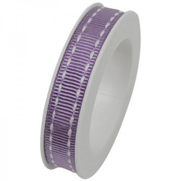 Ripsband 10 mm: Stich flieder