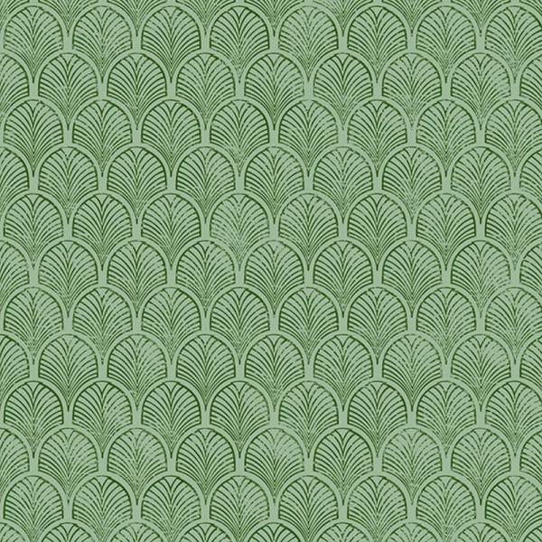 Serviette Atelier: Art Déco grün