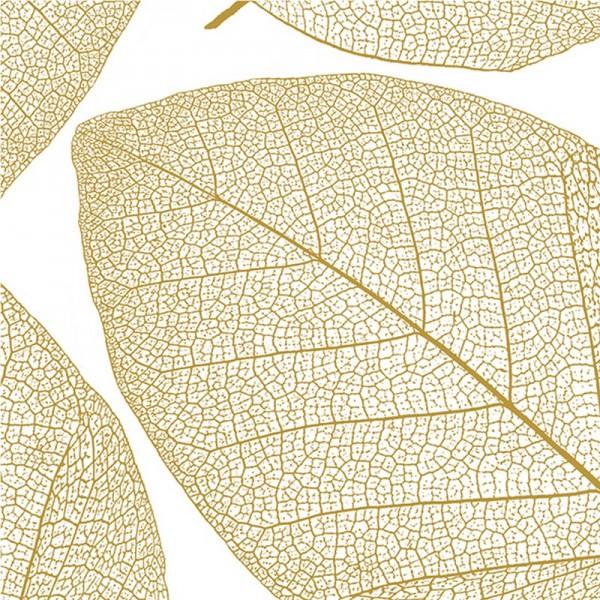 Serviette Atelier: Apart weiß-gold