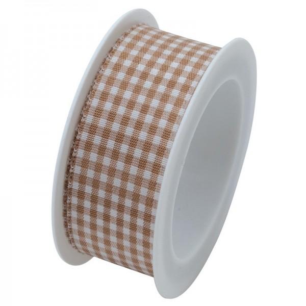 Taftband 25 mm: Vichy beige