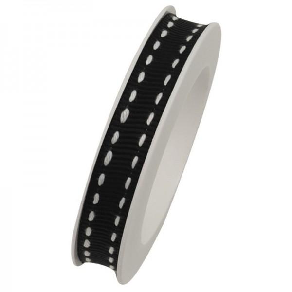 Ripsband 10 mm: Stich schwarz