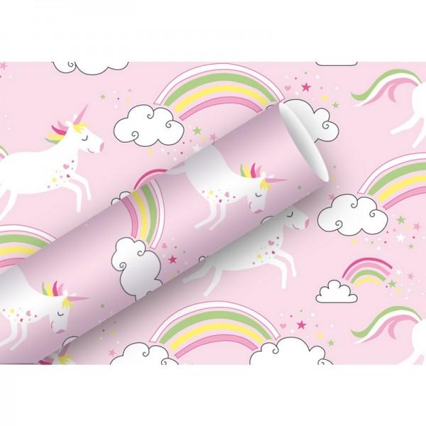 Geschenkpapier: Unicorn rosa