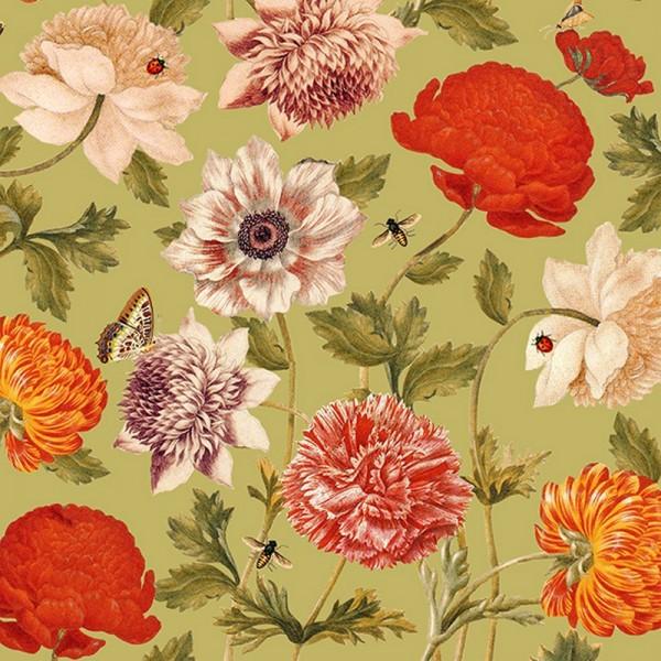 Serviette Atelier: Flora Botanica grün