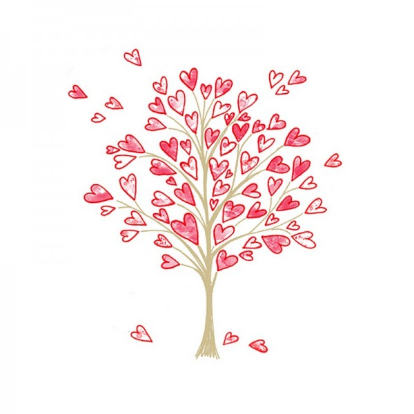 Serviette Atelier: Love Tree