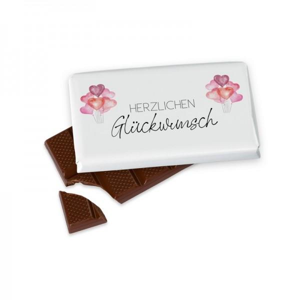 Schokolade40g Herzl.Glückwunsch