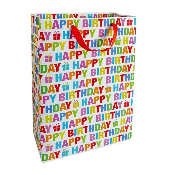 Geschenktaschen, 25 x 37 x 8 cm: Colour Birthday