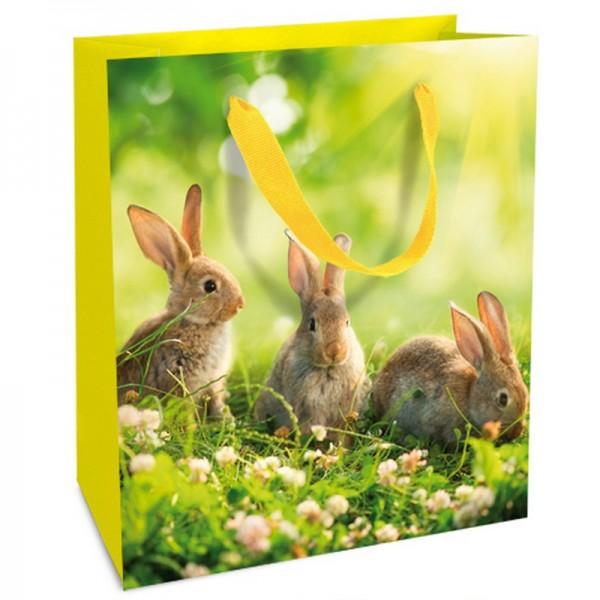 Geschenktaschen, 18 x 21 x 8 cm: Kaninchenwiese