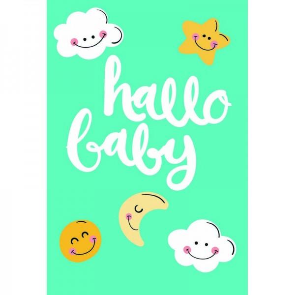 "Minikarte Baby ""hallo baby"""