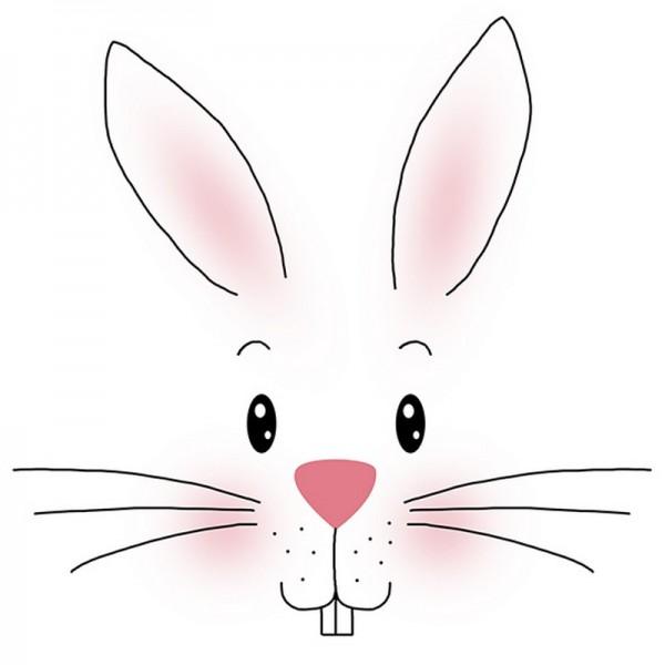 Serviette Atelier: White Bunny