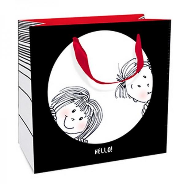 Geschenktaschen, 15 x 15 x 6 cm: Hello
