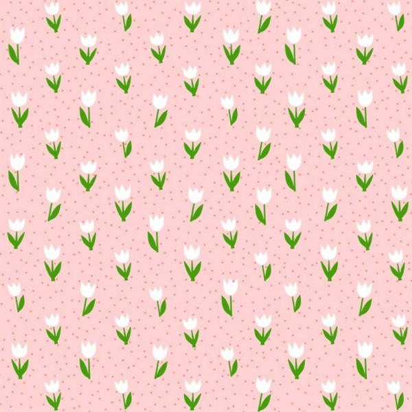 Serviette Atelier: Minitulips rosa