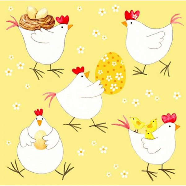 Serviette Atelier: Hühnerparty