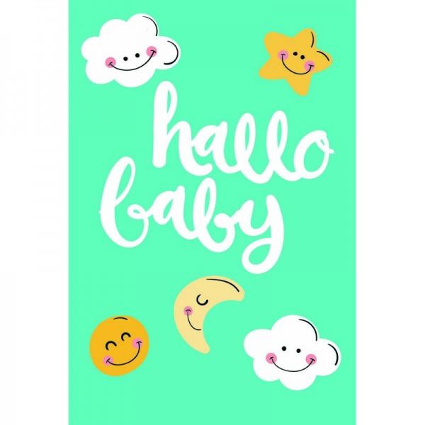 "Grußkarte Baby ""hallo baby"""