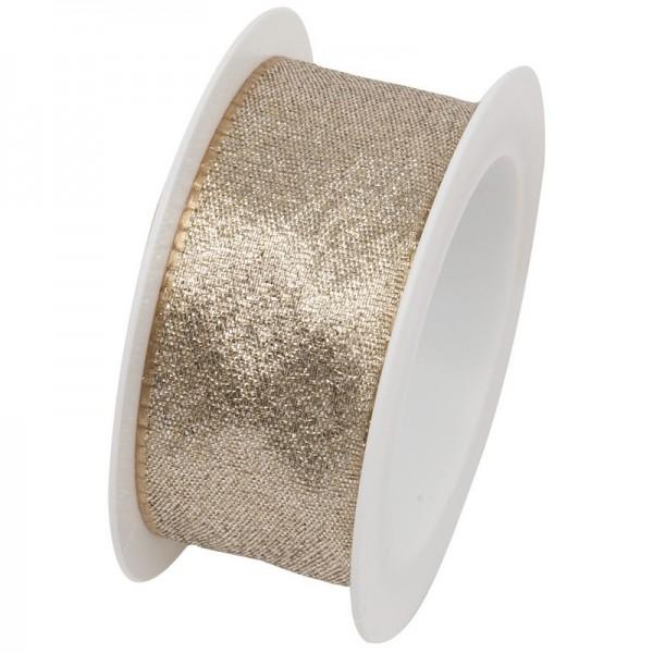 Taftband 25 mm: Society gold