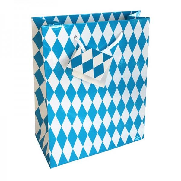Geschenktaschen, 18 x 21 x 8 cm: Bayernraute