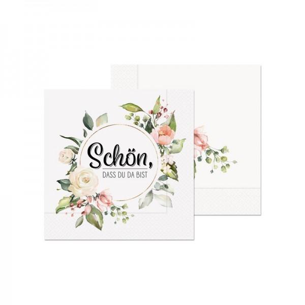 Serviette Schön,Blum20St.33x33
