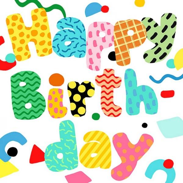 Serviette Atelier: Birthday Fun