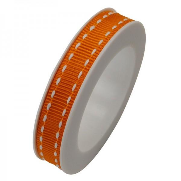 Ripsband 10 mm: Stich orange