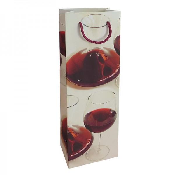 Flaschentaschen, 12 x 37 x 8 cm: Bordeaux