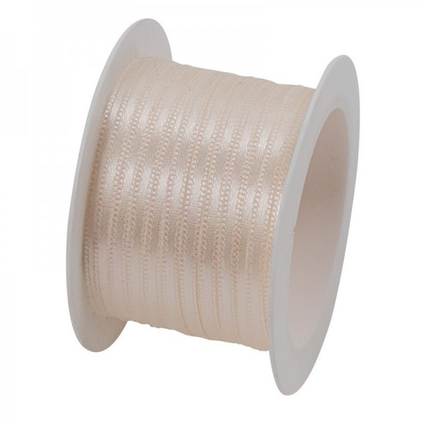 Satinband 3 mm: creme
