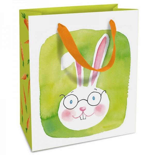 Geschenktaschen, 18 x 21 x 8 cm: Green Bunny